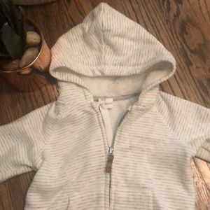 H&M Shirts & Tops - Gray and White Stripe Hoodie
